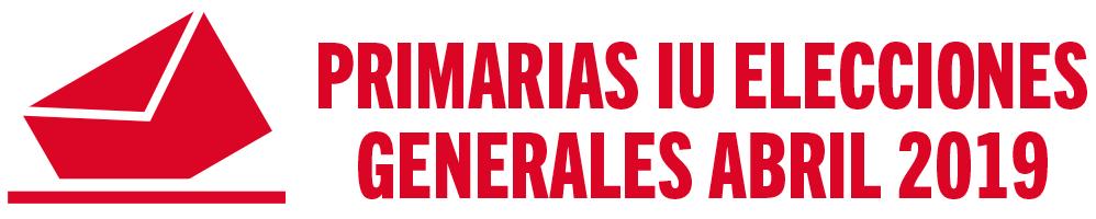 Primarias de IU para las Elecciones Generales de 2019